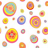 Easter wallpaper with funny colorful eggs Royalty Free Stock Image