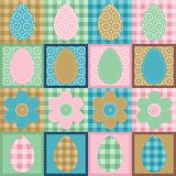 Easter wallpaper patchwork scrapbook Stock Photography