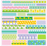 Easter washi tape clipart. Easter washi tape vector clipart Royalty Free Stock Photo