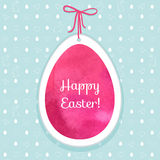 Easter watercolor background and seamless pattern with eggs, rab Royalty Free Stock Photography