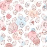 Easter watercolor pattern royalty free illustration
