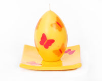 Easter wax candle Royalty Free Stock Photo
