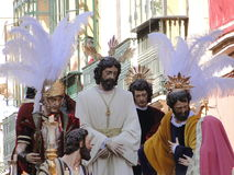 Easter weekPassion. Image of Christ procession in the holy week of Seville in the south of Spain Royalty Free Stock Image