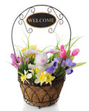 Easter Welcome Basket Stock Images