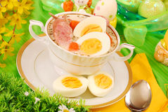 Easter white borscht ( zurek ) Royalty Free Stock Photo