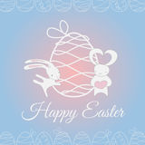 Easter white cute rabbit royalty free stock image