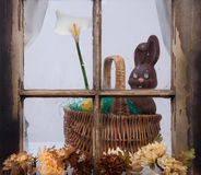 Easter In The Window Stock Photo