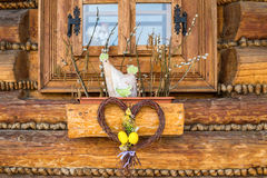 Easter window decoration Royalty Free Stock Photo