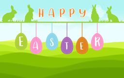 Easter Wish Card in landscape Royalty Free Stock Photo