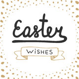 Easter wishes vector typography design elements for greeting cards, invitation, prints and posters. Royalty Free Stock Image
