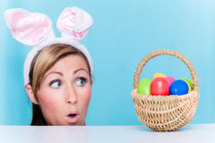 Easter woman Royalty Free Stock Images