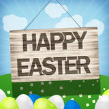 Easter Wood Sign. Creative Wood Sign Graphic Stock Images