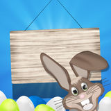 Easter Wood Sign Royalty Free Stock Photography