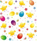 Easter wrapper with funny chicken Royalty Free Stock Photo