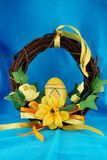 Easter wreath. Home made easter wreath for easter holiday Royalty Free Stock Photo
