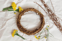 Free Easter Wreath Royalty Free Stock Images - 66023769