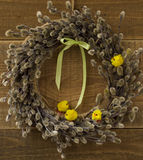 Easter wreath Stock Images