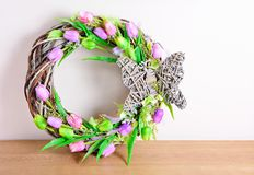 Free Easter Wreath Decoration Royalty Free Stock Photo - 66377965