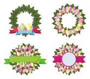Easter wreath. Easter background with wreath Royalty Free Stock Image