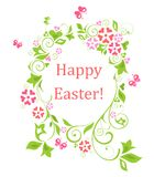 Easter wreath with egg shape Royalty Free Stock Photography