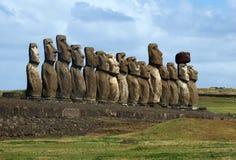 easter wyspy moai Zdjęcia Stock