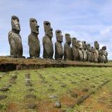 easter wyspy moai Pacific południe Zdjęcie Royalty Free