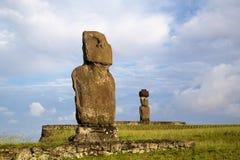 easter wyspy moai statuy Obraz Royalty Free