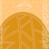 Easter yellow background egg banner Stock Images