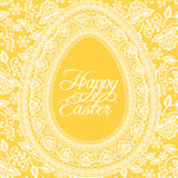 Easter yellow card Stock Images