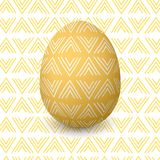 Easter yellow egg. Decorated festive egg with simple abstract decoration. isolated. Spring holiday. Vector pattern Illustration. golden, bronze, copper. For Royalty Free Stock Images
