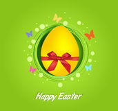 Easter yellow egg gift card Royalty Free Stock Images