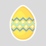 Easter yellow egg icon isolated on a gray background. Stock Photography