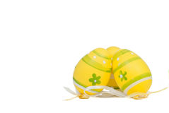 Easter yellow eggs Stock Image
