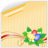 Easter yellow sticker Royalty Free Stock Images