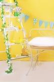 Easter yellow studio decor Stock Photo