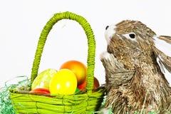 Easterbunny met eieren Royalty-vrije Stock Foto