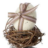 EasterEgg tied in a bow Stock Images