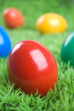 Eastereggs colorés Photographie stock