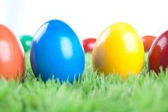 Eastereggs colorés Photos libres de droits