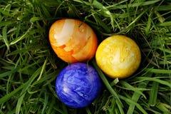 Eastereggs en la hierba 4 fotografía de archivo libre de regalías