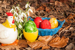 Eastereggs in the garden 6 Royalty Free Stock Photos