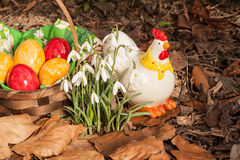 Eastereggs in the garden 2 Royalty Free Stock Images