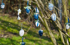 Eastereggs on the tree Stock Images