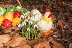 Eastereggs w ogródzie 2 Obrazy Royalty Free