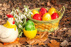Eastereggs w ogródzie 4 Zdjęcia Stock