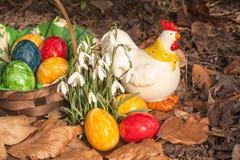 Eastereggs w ogródzie 1 Fotografia Stock