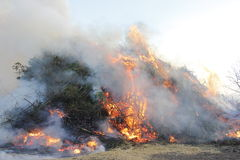 Easterfire på Wapse Arkivfoton