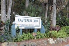 Easterlin parkerar ingångstecknet utanför Royaltyfria Bilder