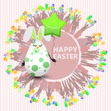 Easterly egg sweet girl balloon form of a star Stock Image