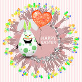 Easterly happy egg sweet girl with a balloon Stock Photo